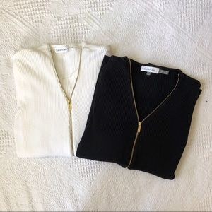 Calvin Klein Set of Two Zip Up Sweaters